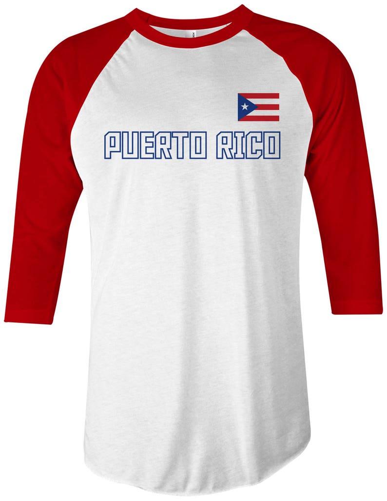 wholesale dealer 4b33f d048a Puerto Rico National Team Unisex Adult Raglan T-Shirt