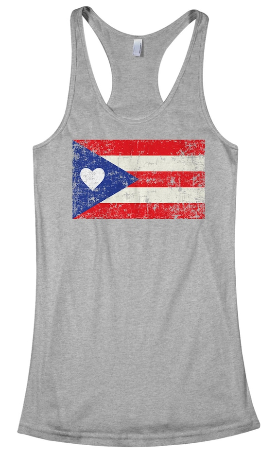 d696350f21c76 Puerto Rico Flag With Heart Women s Racerback Tank Top