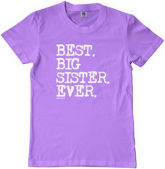 Threadrock Girls Happy To Be Me Because Big Sister To Be Fitted T-shirt