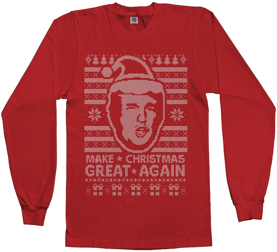 7e9c41ac3 make christmas great again ugly sweater donald trump 2016. trump ...