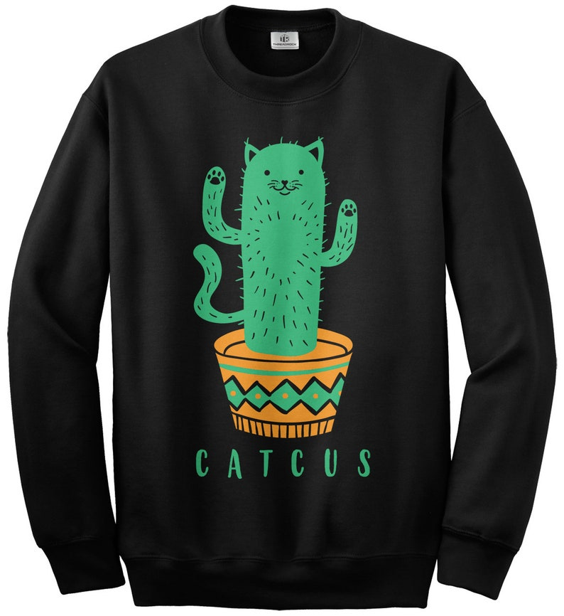 Catcus Cat Cactus Plant Unisex Youth Sweatshirt