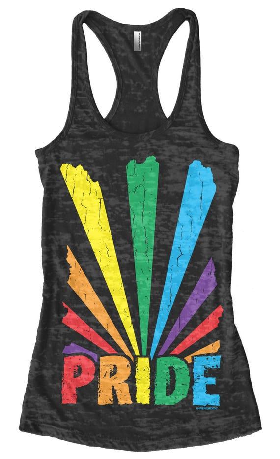 Gay Pride Singlet Tank Top Sleeveless T-Shirt Rainbow Flag Pride Lgbt Support