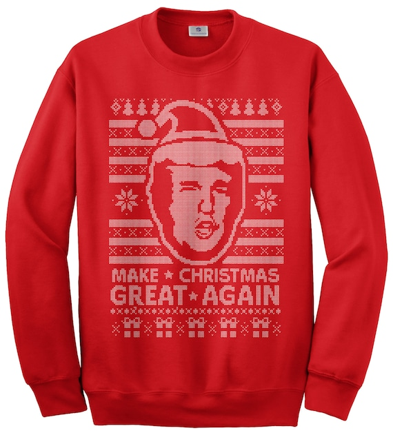 3a8869ecc Donald Trump Make Christmas Great Again Ugly Christmas Sweater | Etsy