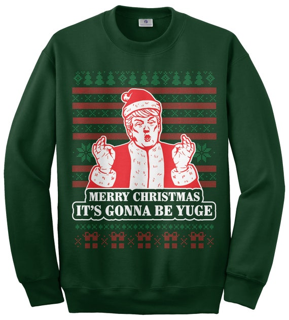 Donald Trump Christmas Ornament Unisex Crew Sweatshirt