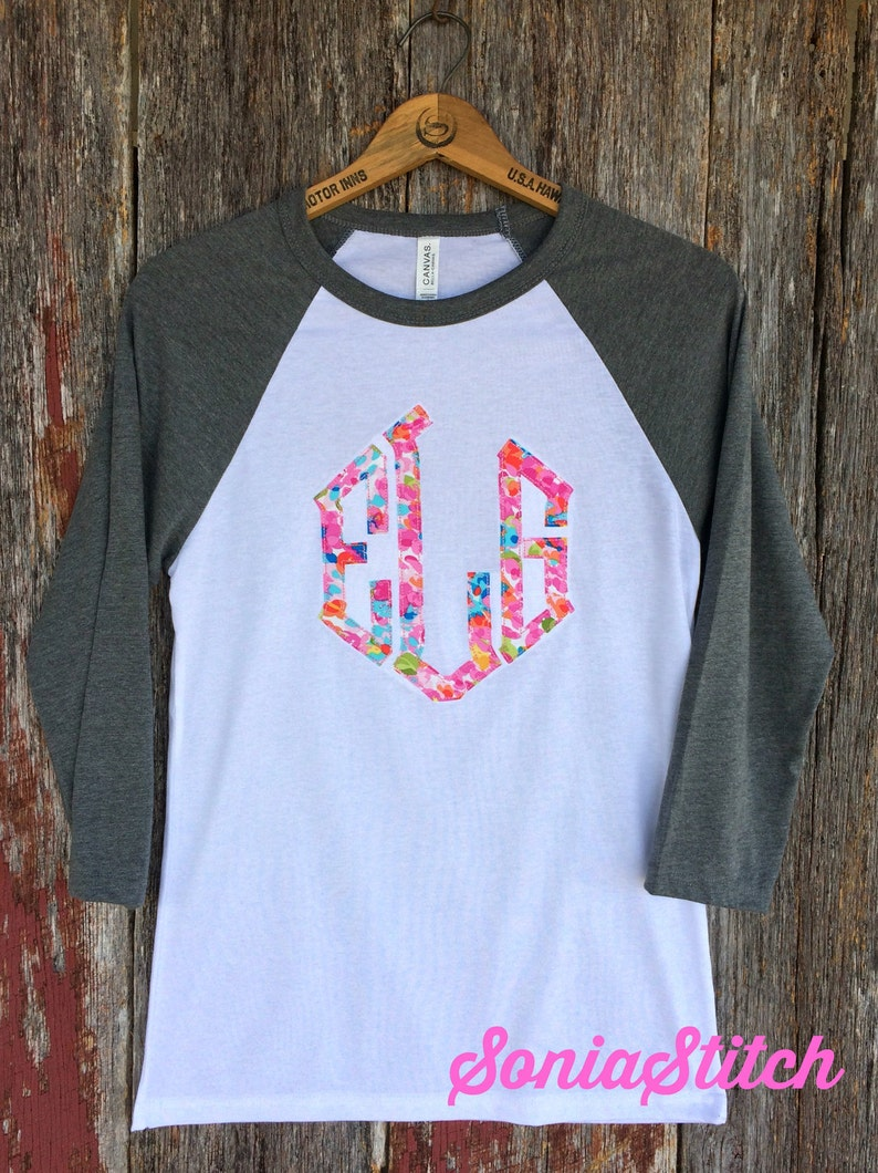 bcd93d1bcbc64 Monogram Applique Baseball Tee Raggy monogram shirt