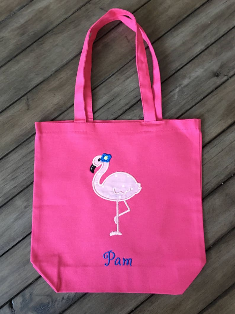 7daf1e18a Flamingo Bird Canvas Tote Bag Personalized Gift Different | Etsy