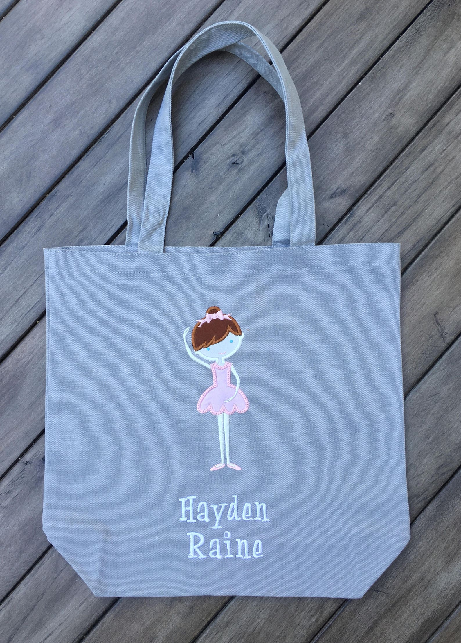 personalized dance or ballet bag, ballerina tote, customize your dancer, girl's gift