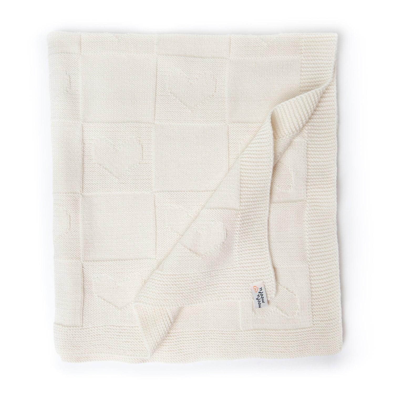Couverture bébé Meelu Meelu / eco bébé couverture de laine mérinos / cadeau de shower de bébé / nouveau-né bébé cadeau / couverture pour bébé tricoté à la main