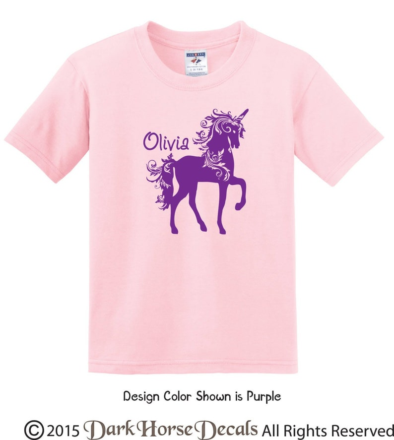 c093c43f Fancy Unicorn Personalized Girl t shirt youth/toddler tee | Etsy