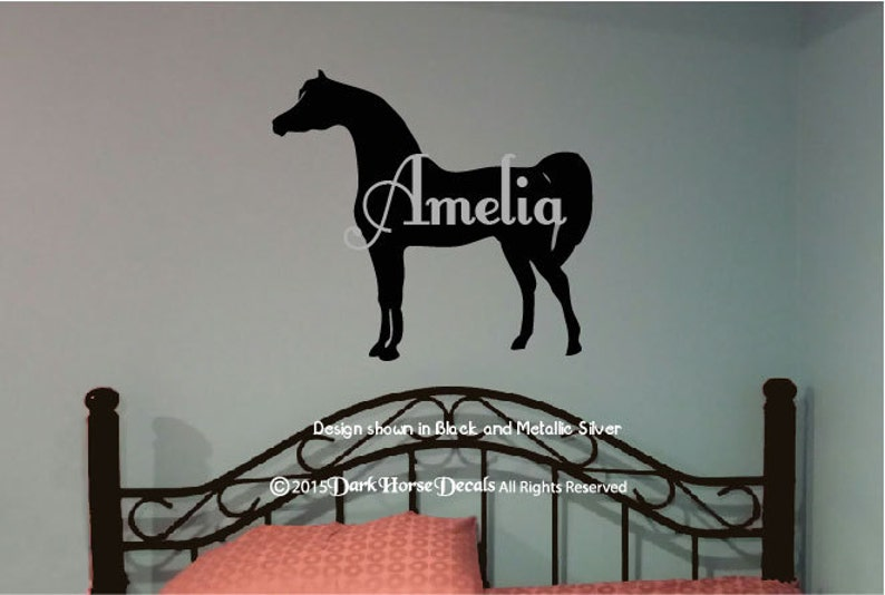 sports shoes 2a18a 090bb Arabian Horse Personalized Girl s Room Wall Decal   Etsy