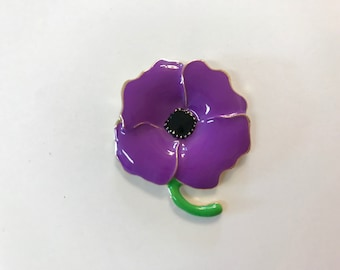 Purple Poppy Needle Minder