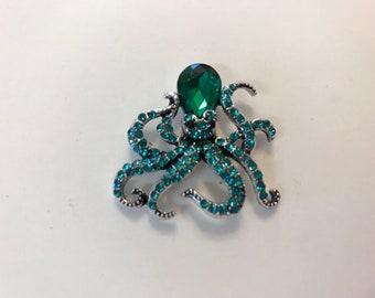 Emerald Octopus Needle Minder