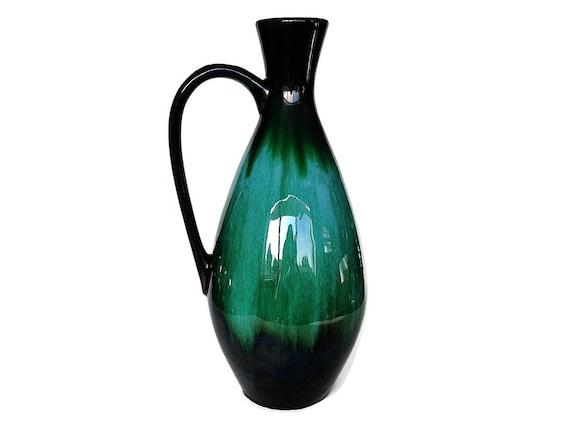 Mid Century Pitcher Blue Mountain Pottery Vase Jug Retro Etsy