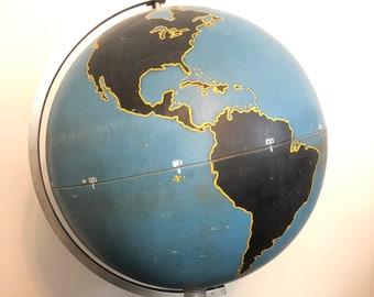 1fd7bf7156a8d8 Denoyer-Geppert Steel Spun WWII Military Globe