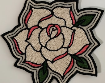Large off-white rose patch