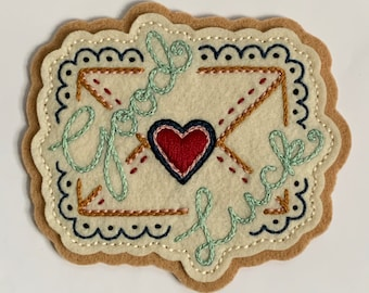 'Good Luck' love letter patch