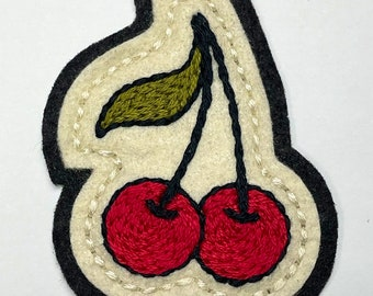 Small red cherries patch