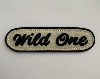 'Wild One' vintage motorcycle style cursive patch
