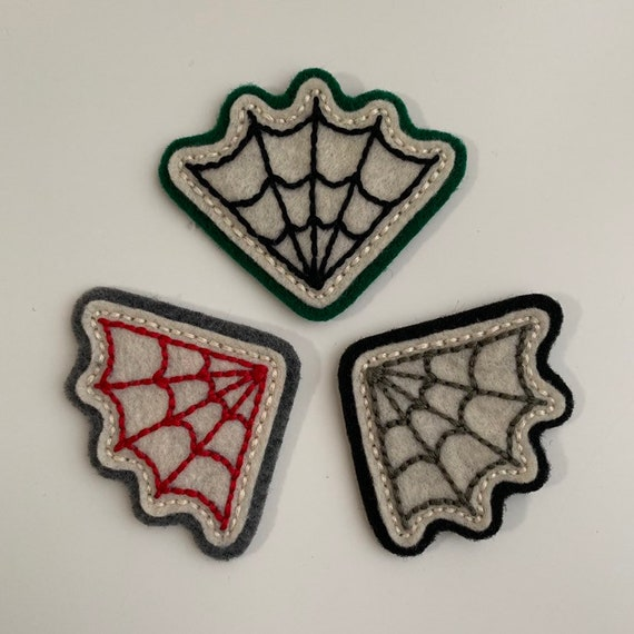 Small corner spider web patch