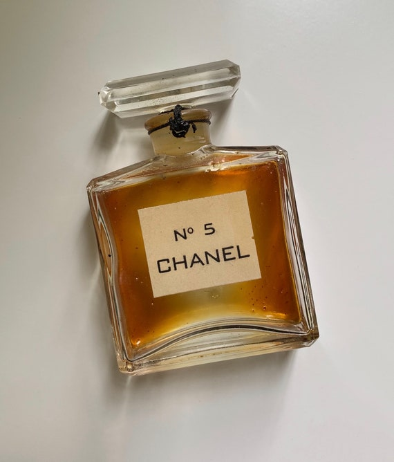0a11c4f8 1950s - small used Chanel No. 5 perfume bottle