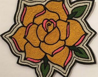 Large yellow rose patch