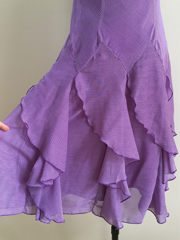 Vintage 1990s does 1920s - women's sleeveless purple ...
