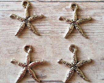 Starfish Charms 4 Pieces