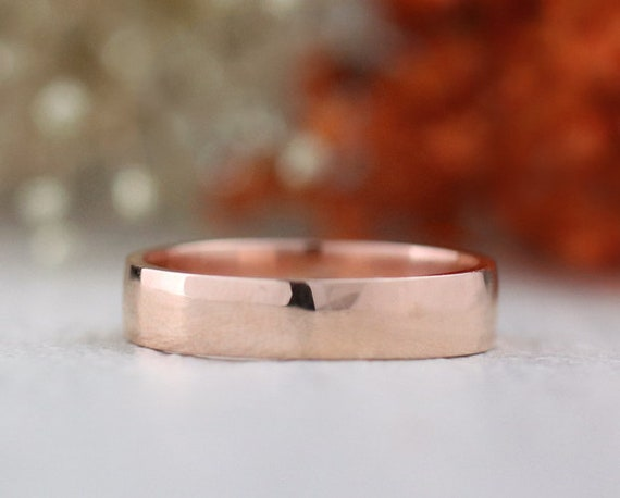 5MM Simple Gold Band | Solid 14K Gold | Polished Finish | Fine Jewelry | Free Shipping