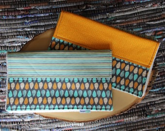 Stripped Egg Burp Cloth Combo - Organic Terry Cloth Backing