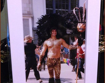 Gay Pride Parade: A Feathered Leopard Photograph (2000s)
