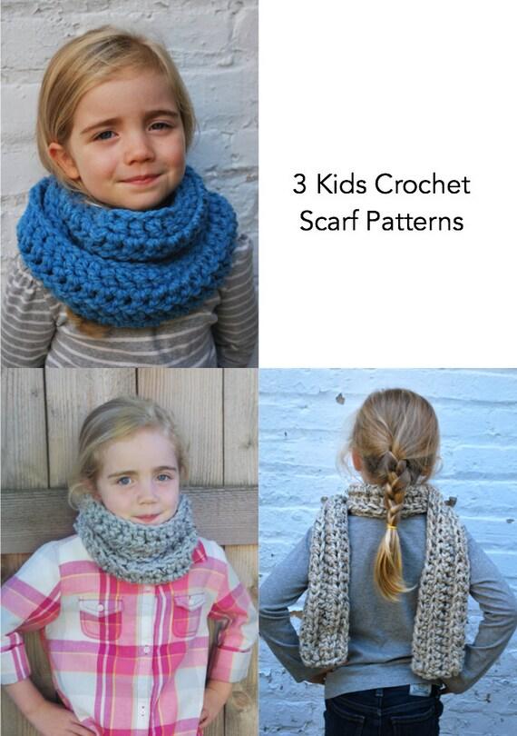 Crochet Pattern Kids Crochet Scarf Patterns Easy Etsy