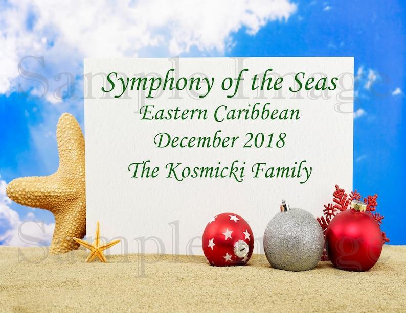 Christmas Cruise Door Magnet Carnival Norwegian Royal Caribbean Celebrity Princess