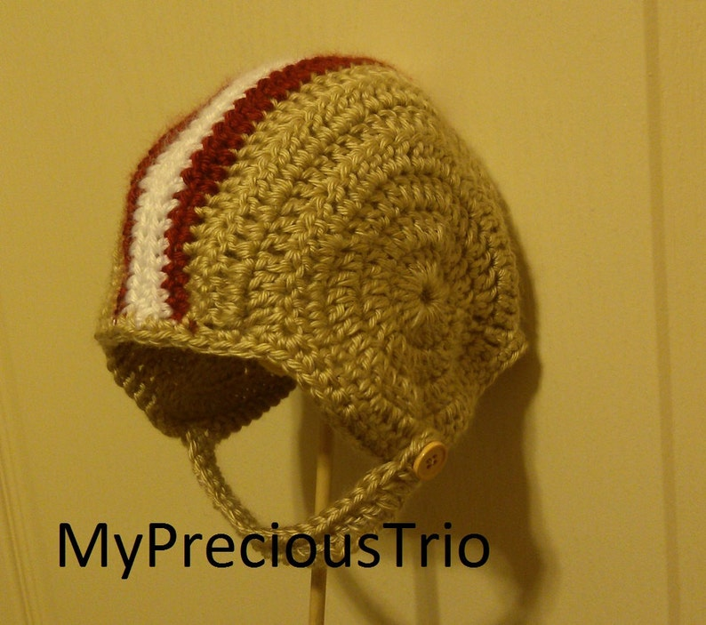 Crochet football helmet beanies in the color of your choice s