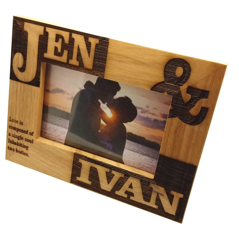 Personalised Mr and Mrs Photo Frame  4x6 Landscape or Portrait