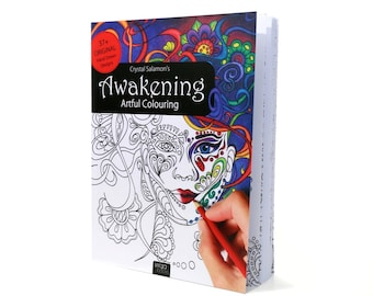 Awakening - adult coloring book for men & women of all ages! Canadian illustrator. Colouring gift for grown ups kids boys girls hand drawn