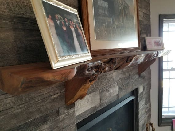 Custom Made Hardwood Live Edge Fireplace Mantels Sycamore Etsy