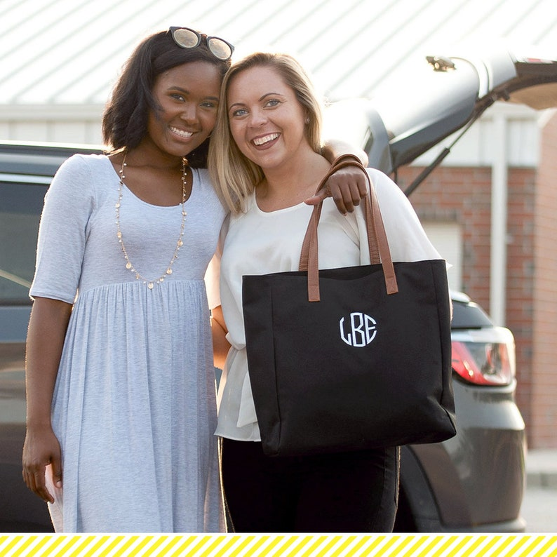 Bridal Party Gift Personalized College Football Tote Game Day Tote Bag Bridesmaid Gift Black Monogram Tailgate Tote Womens Shoulder Bag