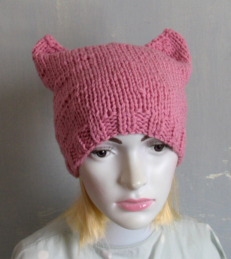 51ddfd524bd72 Pink Pussy Hat Crochet Pussycat Hat Women s Rights Hat Pink Cat Hat Women s  March Hat Pink Pussyhat Pussy Cat Hat Feminist ...