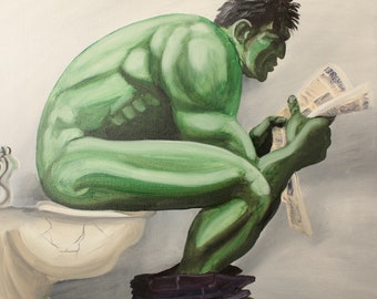 Hulk On The Can Limited Edition 8 x 10 inch glossy print