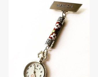 Personalized Nurse Watch Nurses Fob Gift For Women Pocket Hand Stamped Jewelry Gifts