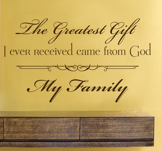Family Wall Words Sticker Home Decor Wall Art Quote Family