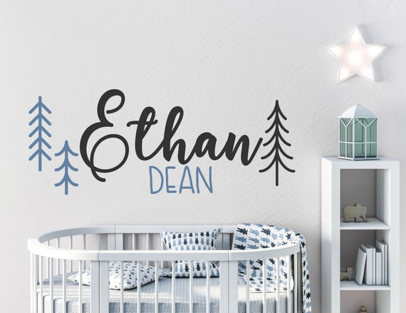 custom name decal for nursery nursery wall art name kids | etsy