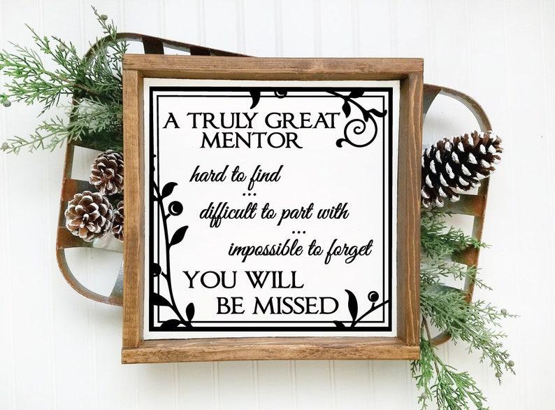 Wood Retirement Plaque Gift Mentor Saying
