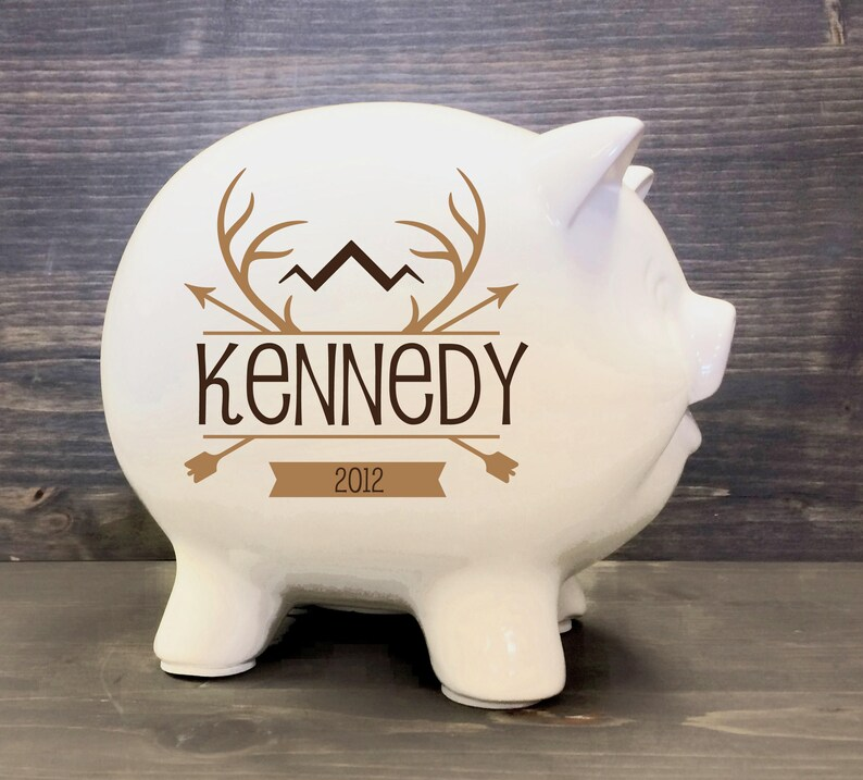 Orange Ceramic Piggy Bank for Kids Favorite Unique Gift Idea Piggy Bank for Boys and Girls Unique Gift Nursery D/écor Keepsake Porcelain Money Bank