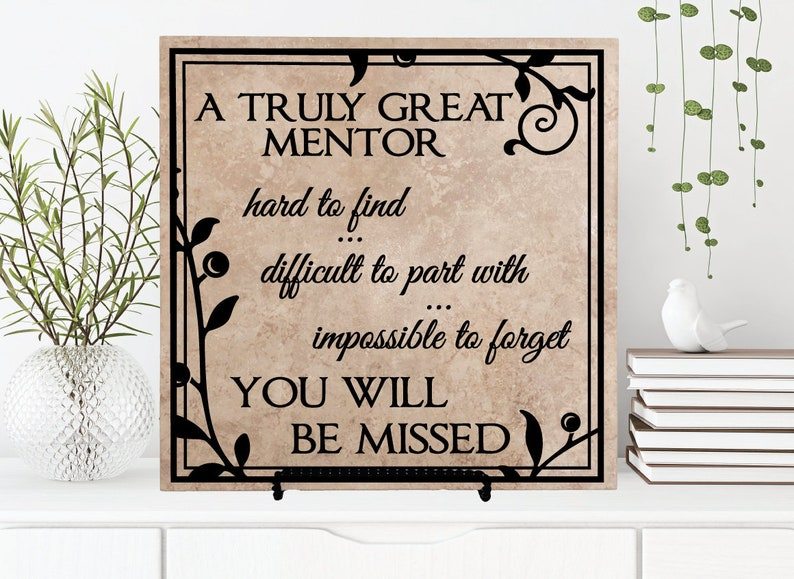Truly Great Mentor Plaque Retirement Sign with Quote Thank image 1