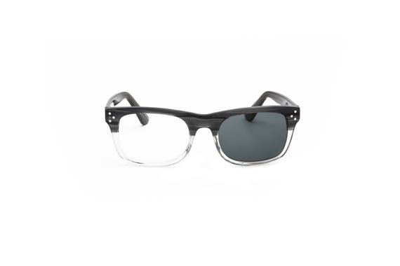 388d8a7f57 Clear Eyeglasses Two Tone Glasses Grey Reading Glasses