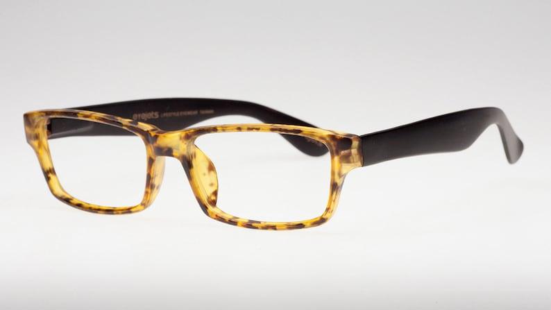 d048aafb9661 Matte Tortoise and Black Rectangular Reading Glasses for Men