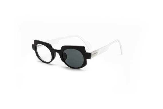 9ce984cbe9af Matte Black   White Reading Glasses Square Round Readers by