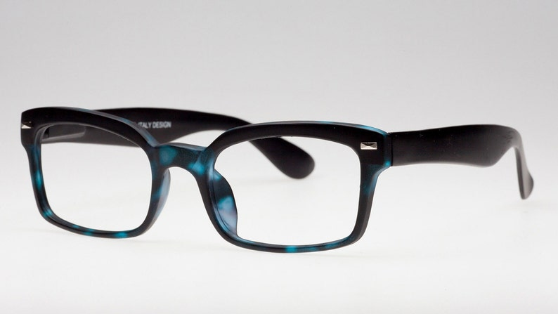 f2064530adba Tortoise Blue Eyeglasses Frame Matte Turquoise and Black