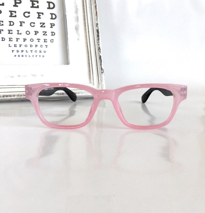 ec1b8957ca00 Pink Wayfarer Reading Glasses Pink Frame Black Temples